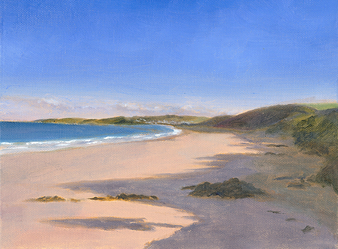 putsborough beach with heavy shadow  u00bb dave crocker  u2022 artist