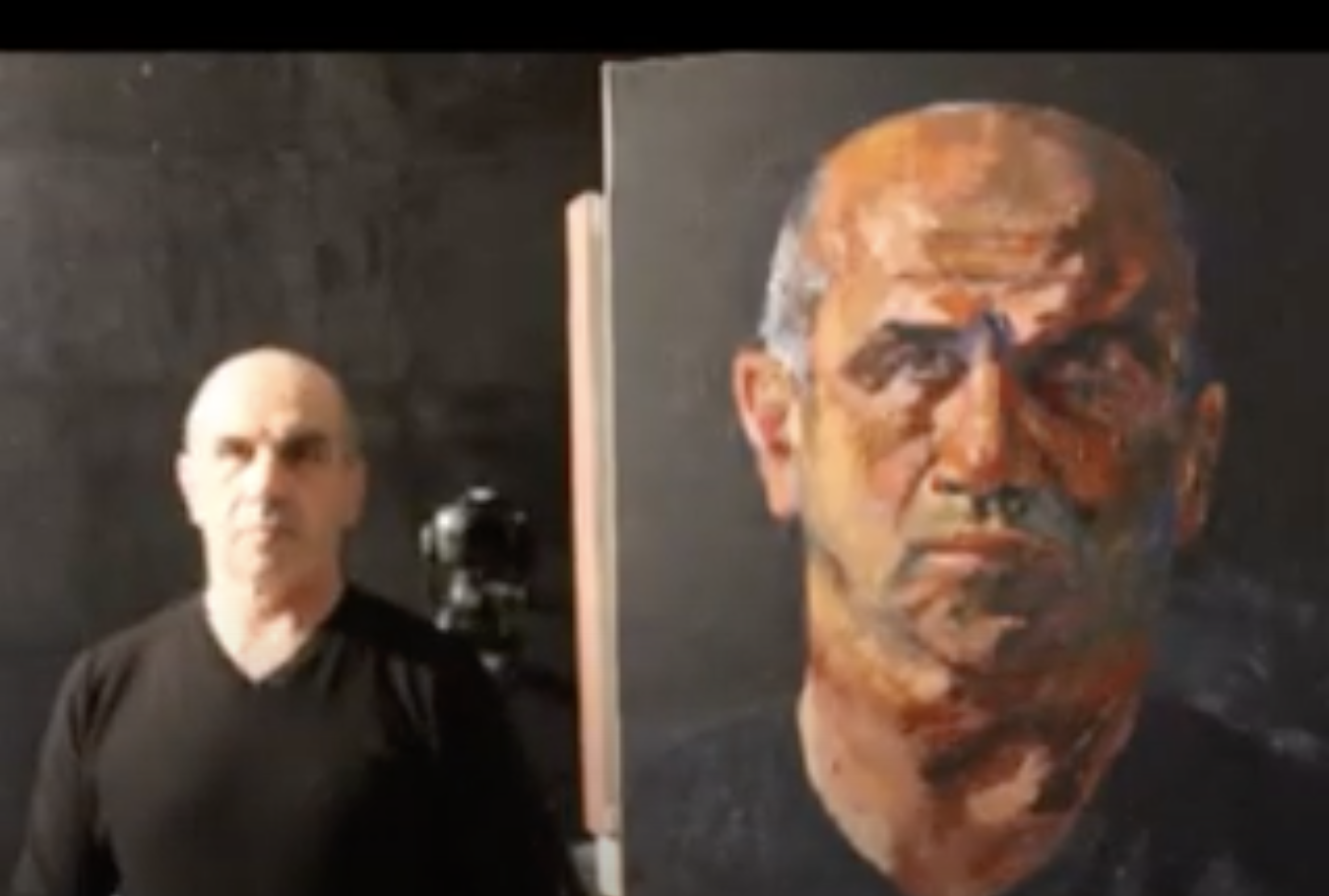 Self Portrait with Palette Knife